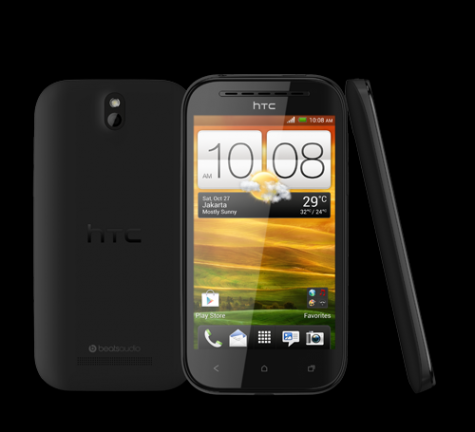 HTC Desire SV front and side view
