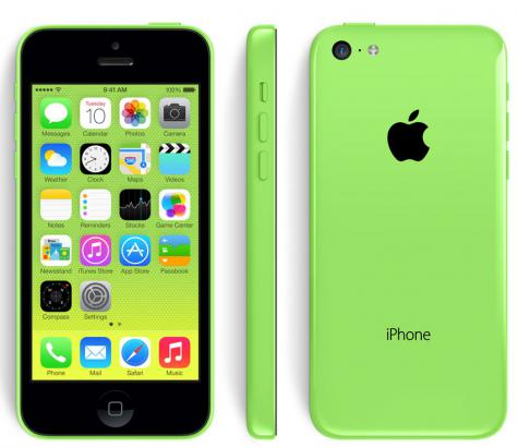 iPhone 5C front and side view