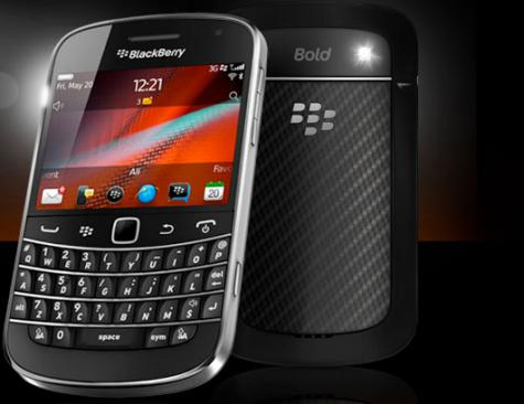 BlackBerry Bold Touch 9900 front and side view