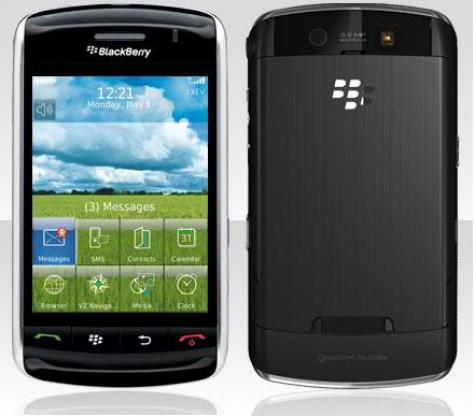 BlackBerry Storm 9530 front and side view