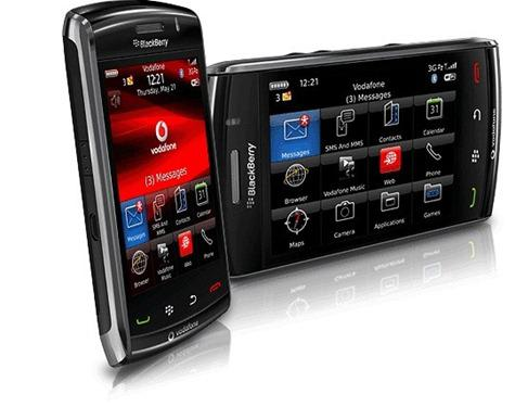 BlackBerry Storm2 9550 front and side view