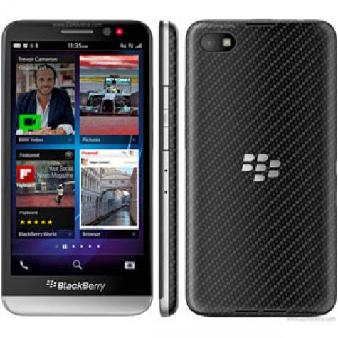 BlackBerry Z30 front and side view