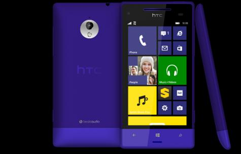 HTC 8XT front and side view