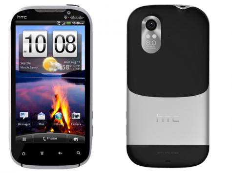HTC Amaze 4G front and side view
