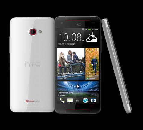 HTC Butterfly S front and side view