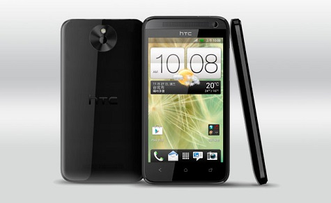 HTC Desire 501 front and side view