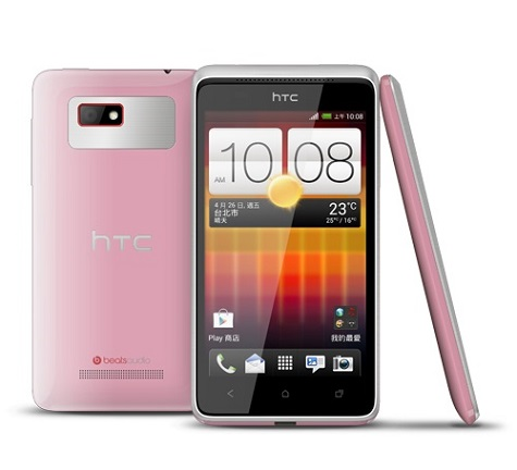 HTC Desire L front and side view