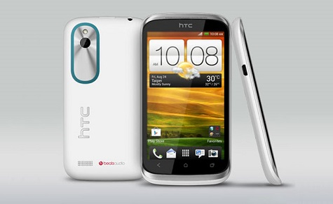 HTC Desire X front and side view