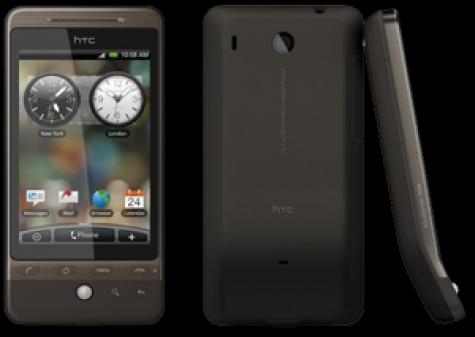HTC Hero CDMA front and side view