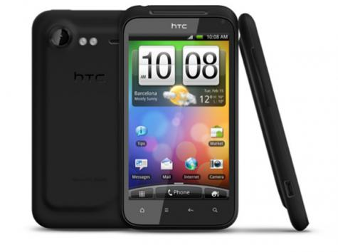HTC Incredible S front and side view