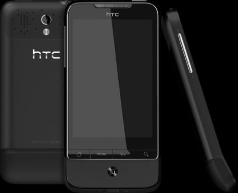 HTC Legend front and side view