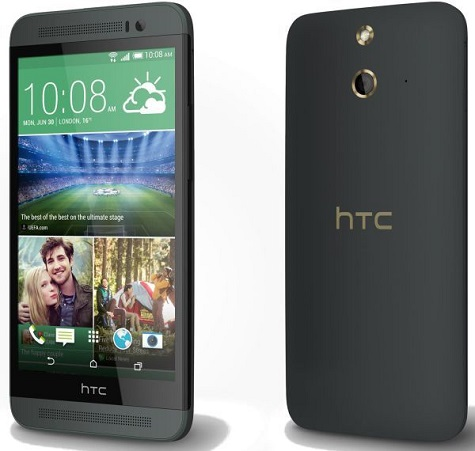 HTC One (E8) front and side view