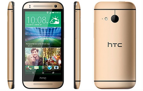 HTC One mini 2 front and side view
