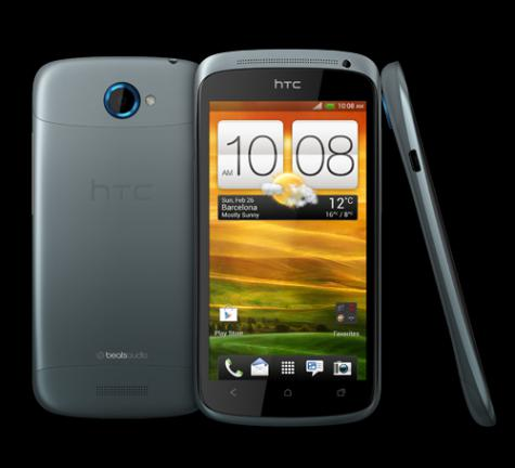 HTC One S front and side view