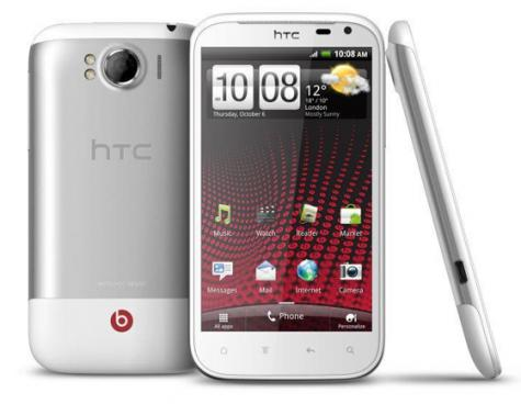 HTC Sensation XL front and side view