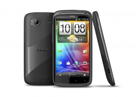 HTC Sensation front and side view