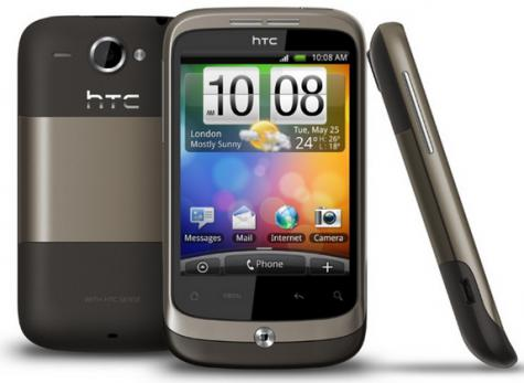 HTC Wildfire CDMA front and side view