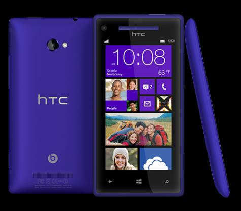 HTC Windows Phone 8X front and side view