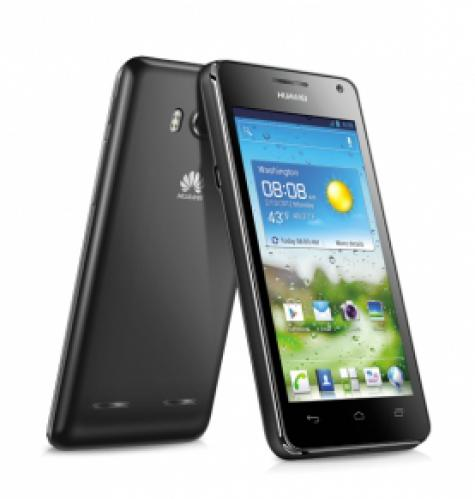 Huawei Ascend G615 front and side view