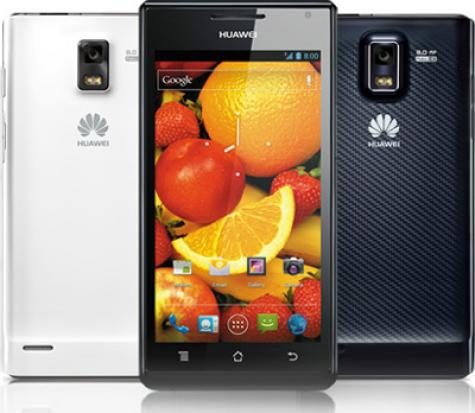Huawei Ascend P1 XL U9200E front and side view