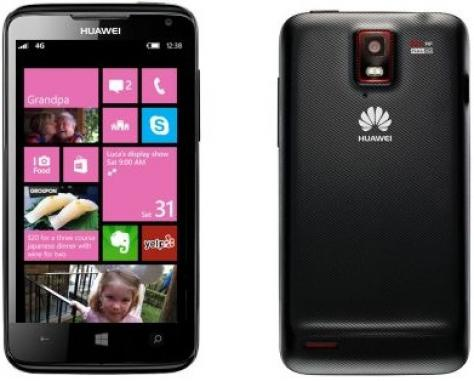 Huawei Huawei Ascend W3 front and side view
