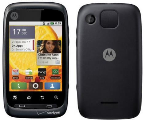 Motorola CITRUS WX445 front and side view