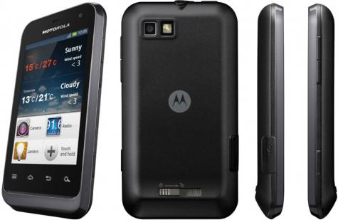 Motorola Defy Mini XT320 front and side view