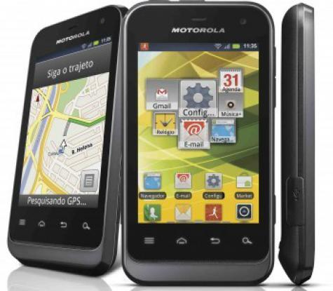 Motorola Defy Mini XT321 front and side view