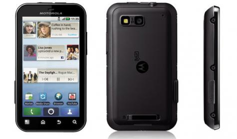 Motorola DEFY XT XT556 front and side view