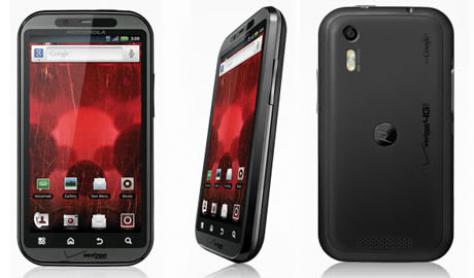 Motorola DROID BIONIC XT875 front and side view