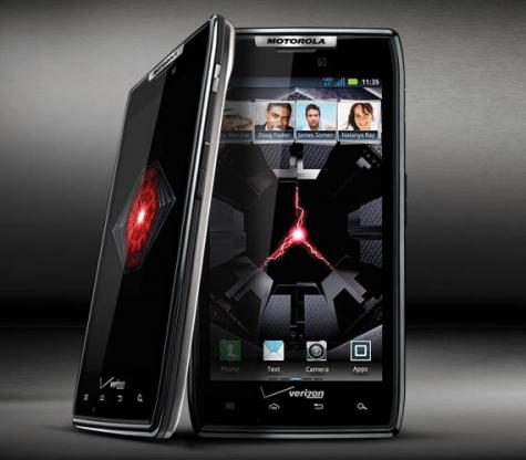 Motorola DROID RAZR XT912 front and side view
