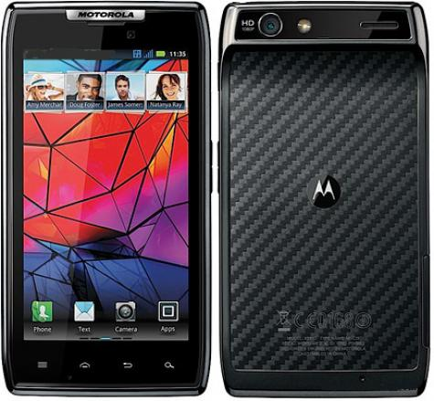 Motorola RAZR XT910 front and side view