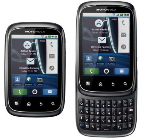 Motorola SPICE XT300 front and side view