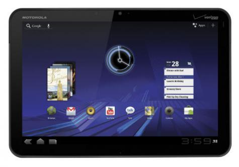 Motorola XOOM MZ600 front and side view