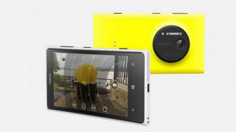 Nokia Lumia 1020 front and side view