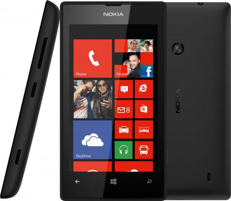Nokia Lumia 520 front and side view