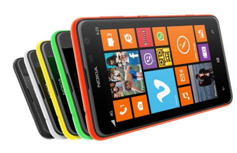 Nokia Lumia 625 front and side view
