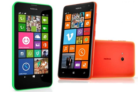 Nokia Lumia 630 front and side view