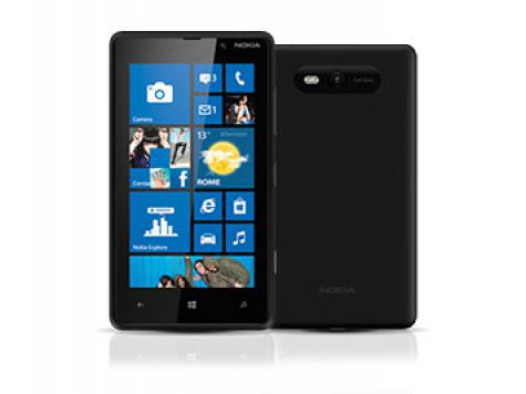 Nokia Lumia 820 front and side view