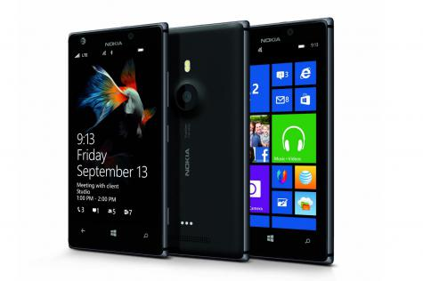 Nokia Lumia 925 front and side view