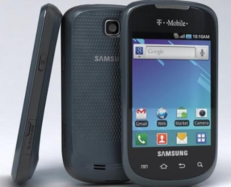 Samsung Dart T499 front and side view