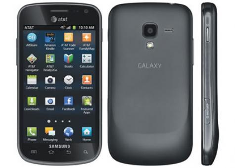 Samsung Exhilarate i577 front and side view