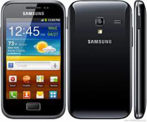 Samsung Galaxy Ace Plus S7500 front and side view