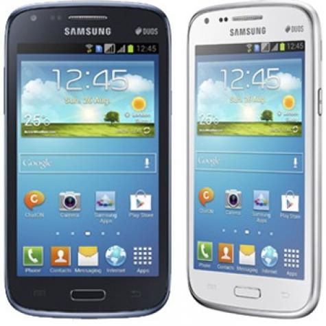 Samsung Galaxy Core I8260 front and side view