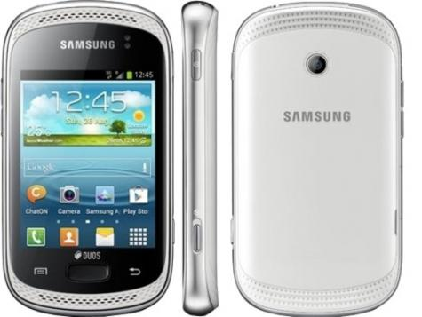 Samsung Galaxy Music Duos S6012 front and side view