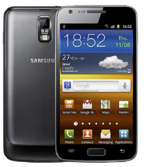 Samsung Galaxy S II LTE i727R front and side view