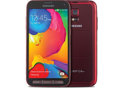 Samsung Galaxy S5 Sport front and side view