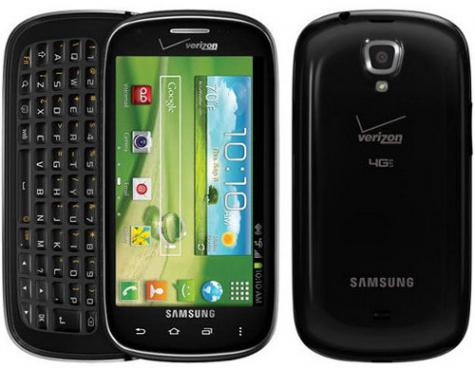 Samsung Galaxy Stratosphere II I415 front and side view
