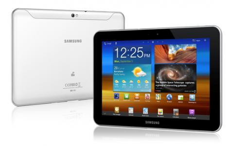 Samsung Galaxy Tab 8.9 4G P7320T front and side view