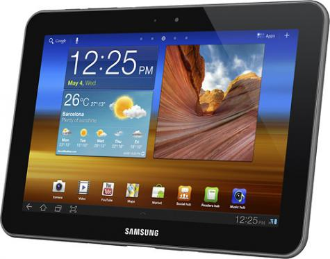 Samsung Galaxy Tab 8.9 LTE I957 front and side view